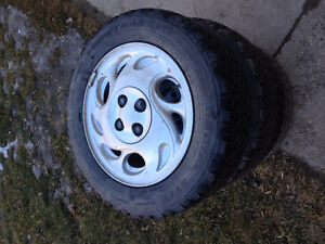 Winter tires 4-195/60R15  on4x100 rims  Civic ,Cobalt.Ion