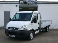 IVECO DAILY 2.3TD 35S11 MWB DROP SIDE FLAT BED PICKUP VAN WORK CHASSIS CAB