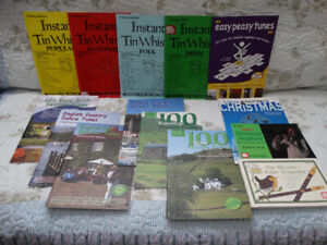 Seven Mally Tin Whistle Tune Books with CDs