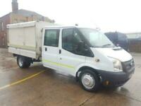 2012 12 FORD TRANSIT DROPSIDE TIPPER DOUBLE CAB CREW CAB (ENCLOSED BODY BESPOKE