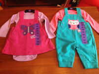 New! 2pc pekkle outfits size 3 months.