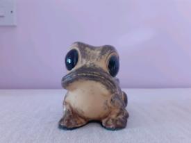 Vintage Peter John Pottery Frog Money Box