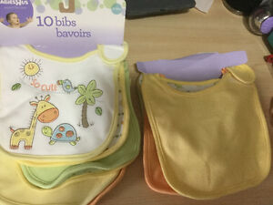 Brand New 10 bibs in Package from Toys r Us Reg. $25!!