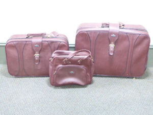 3 PC. SOFT-SIDED LUGGAGE SET BY McBRINE - NEVER USED