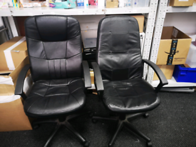 2 x leather office chairs