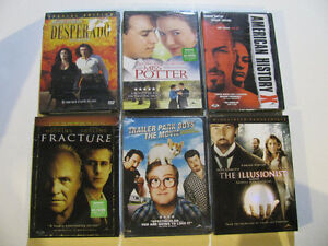 Unopened DVD's incl American History X and Trailer Park Boys