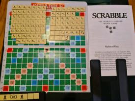 Vintage Original Pocket Magnetic Travel Scrabble Game