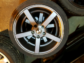 Bmw Matt black alloy wheels rim with tyre 3 series e46 e90 z4 e36 E85