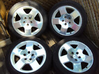 SET OF AUDI A6 FAT FIVE RIMS + TIRES 255/40/R17 $750