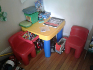 Little Tikes - Table and 2 Chairs. Great Shape - 25.00 obo