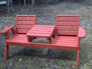 2 seater bench is solid wood $150