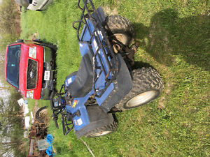 Cleaning cottage out  Suzuki King quad 300cc