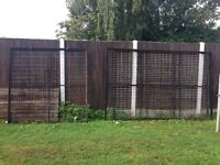 Heavy metal panels/fence
