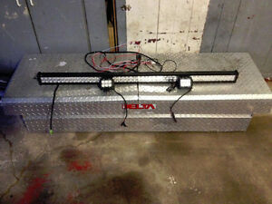 50 inch light bar and tool box for full size truck