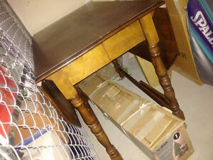 Antique Wood Table with Gable Legs Moose Jaw Regina Area image 3