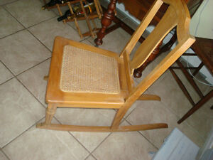 antique small childs rocker chair