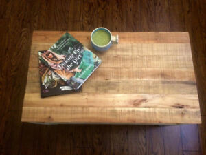 Reclaimed Wood Farmhouse Style Coffee Table For Sale