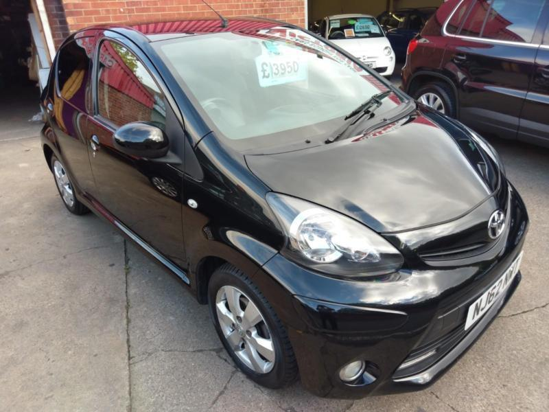 Toyota Aygo 1 0 Fire 5 Door Only 36000 Miles In Black Free Tax Alloys 2017 62reg
