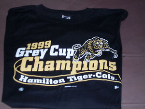 Hamilton Tiger Cats 1999 Grey Cup Champions T-Shirt *NEW*