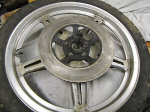 1979 Honda CX 500 fork, front wheel, axle, rotor, tire