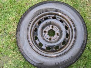 185 70r14 P4 Four Season Pirelli near new tires on 4x100mm rims