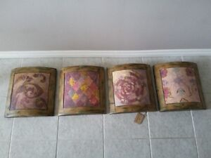 HANDPAINTED CURVED WOOD PANELS WALL HANGINGS - UTTERMOST.COM London Ontario image 2