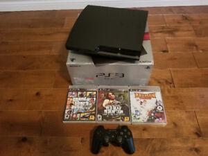 Playstation 3 + manette Dualshock + 3 jeux