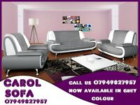HIGH QUALITY ITALIAN PU LEATHER 3 AND 2 SEATER SOFA BED BRAND NEW CAROL