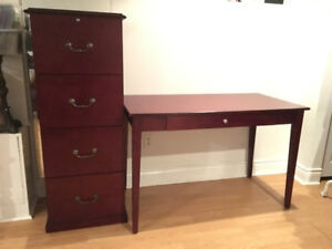 Desk and Filing Cabinet - MOVING SALE!!