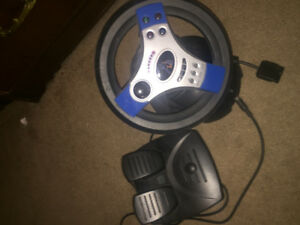 Play Station2 controller & steering wheel and pedal  controller