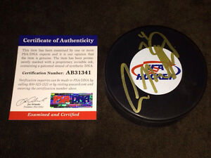 Auston Matthews Autograph Signed Team USA Puck 2016 #1Draft Pick