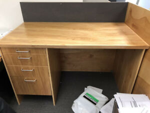 Office Furniture- Drafting/Drawing Table w/ Drawers & Tackboard