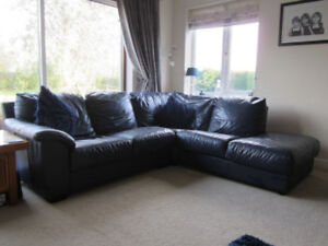 LOOKING FOR... 'Blue Leather Couch Set'