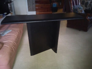 Table Console noir stratifié