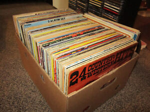 Box Of 150 Various Country & Western Records For Sale