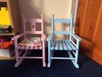 Children's wooden rocking chairs