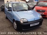 2002 FIAT SEICENTO 1.1i S insurance grp 1 new MOT