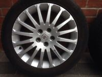 Vauxhall. 17 inch alloys and tyres