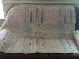 Two single bed throws