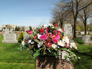 Good Choice of Flowers for TombStone $ 39.99 each