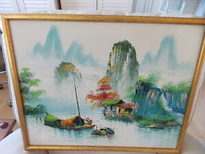 Original oil painting signed by artist in Hong Kong