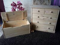 New Baltic pine chest and storage box