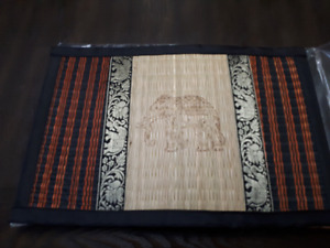 Thailand  Reed place mat and coaster set