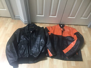 2 Men's Leather Jackets