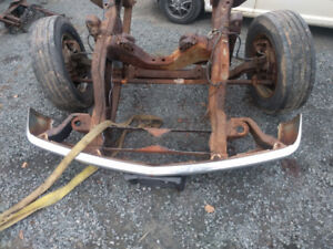 1999 chev 3500 front dually axle and rear axle