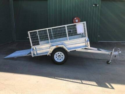 7x4 Trailer HD Built-Incl 600mm Cage with Full width Loading Ramp