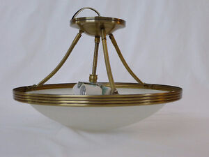 BRUSHED GOLD CEILING MOUNTED LIGHT