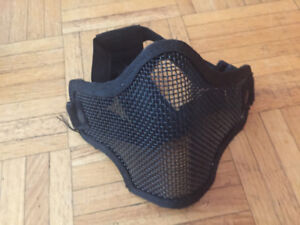 Steel mesh half face mask for airsoft, good quality, not used
