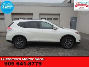 2016 Nissan Rogue SL  PREMIUM AWD AUTO-BRAKE NAV LEATH ROOF CAM