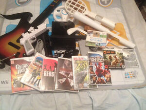 Wii with games an accessories